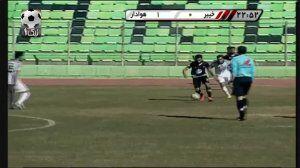 ویدیو| بازی خیبر خرم آباد ۱-۱ خوشه طلایی ساوه